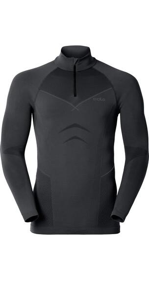 Odlo Evolution 1/2 Zip TN L/S Shirt Black-Graphite Grey